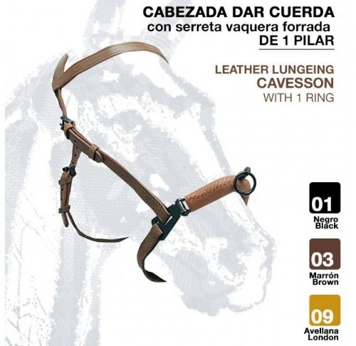 Economy leather single ring serreta
